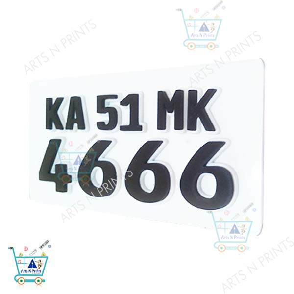 acrylic bike number plate online in India