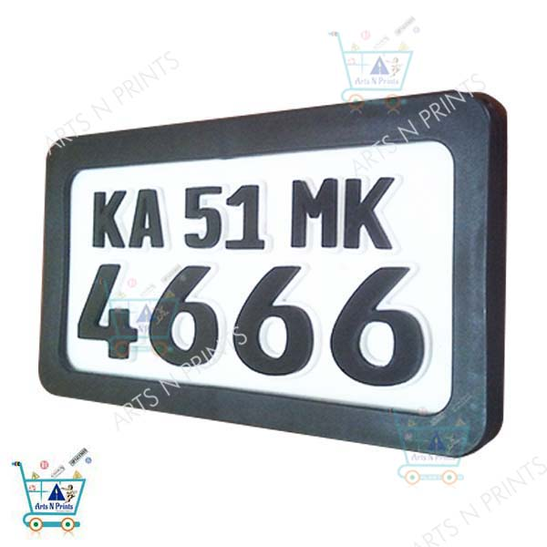 bike number plate with protective frame online in India