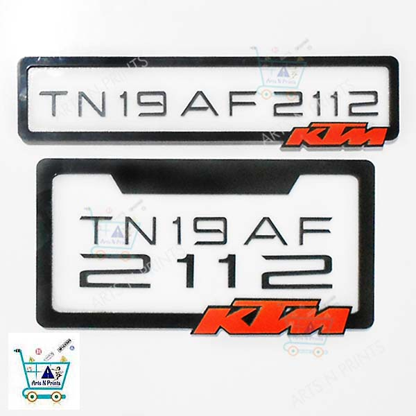 Customized License Plates >> Bike Number Plate Online Bangalore | hobbiesxstyle