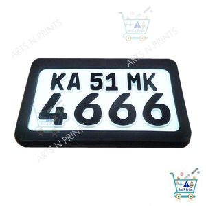 acrylic motor bike with protective frame German font number plate online in India