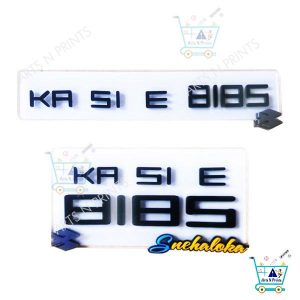 acrylic laser cut Bike number plate design