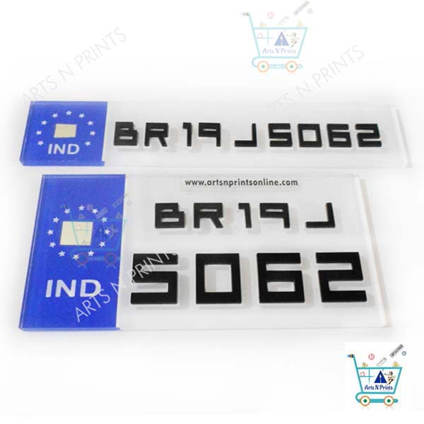 acrylic 3d Bike number Plates online