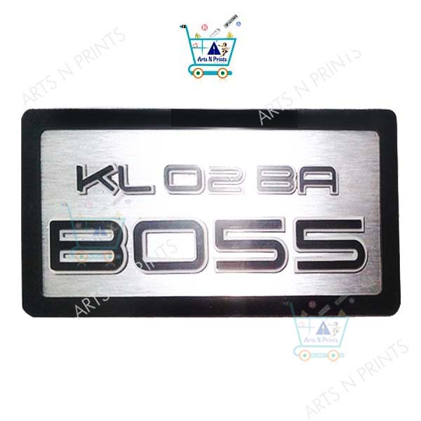 boss-no.-plate-design-online for bike