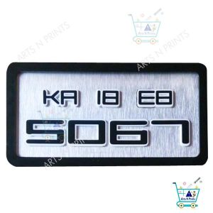 stylish number plate for 2 wheeler