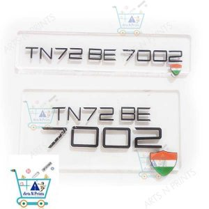 glass number plate for royal enfiedld